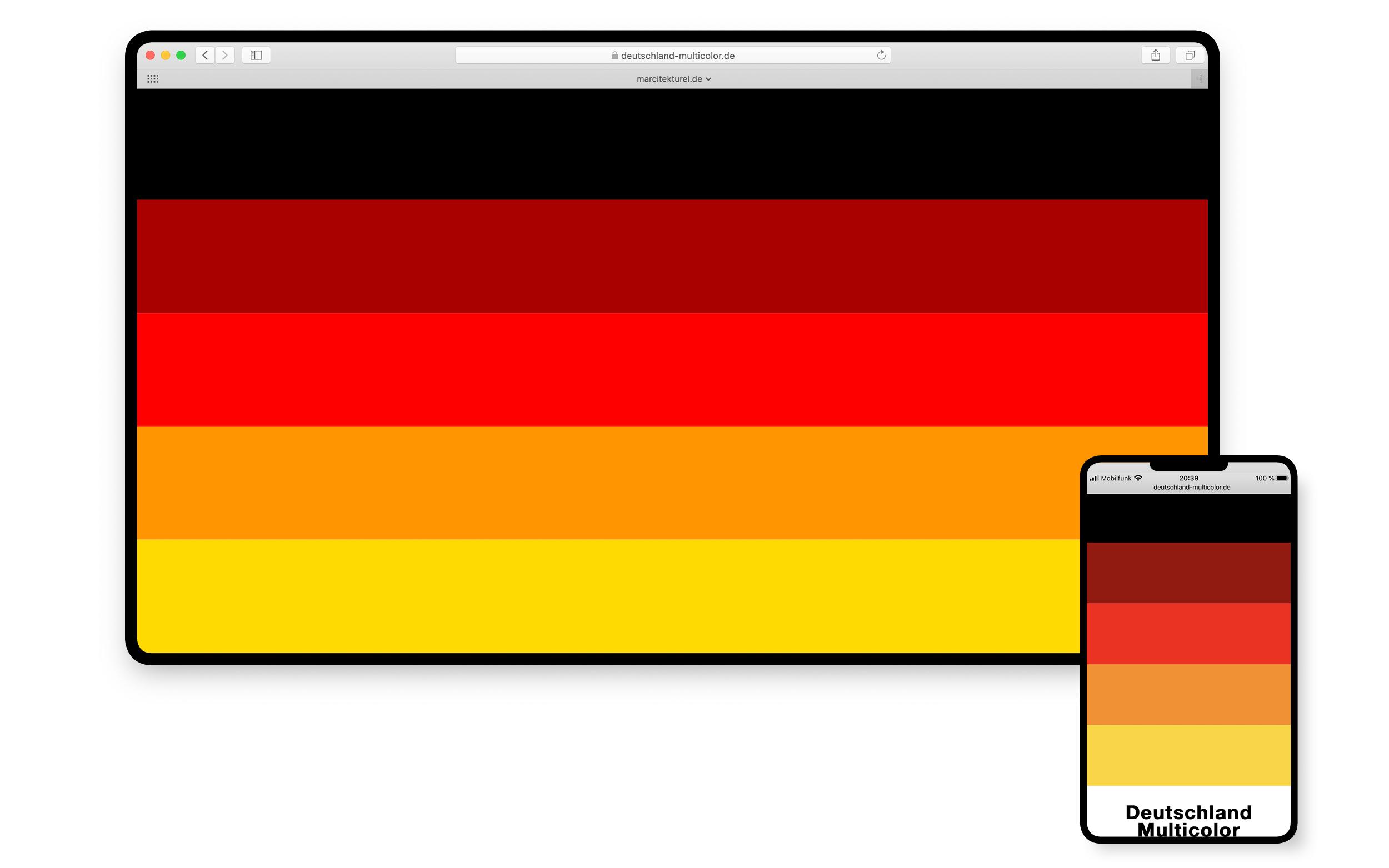 Deutschland Multicolor Flagge