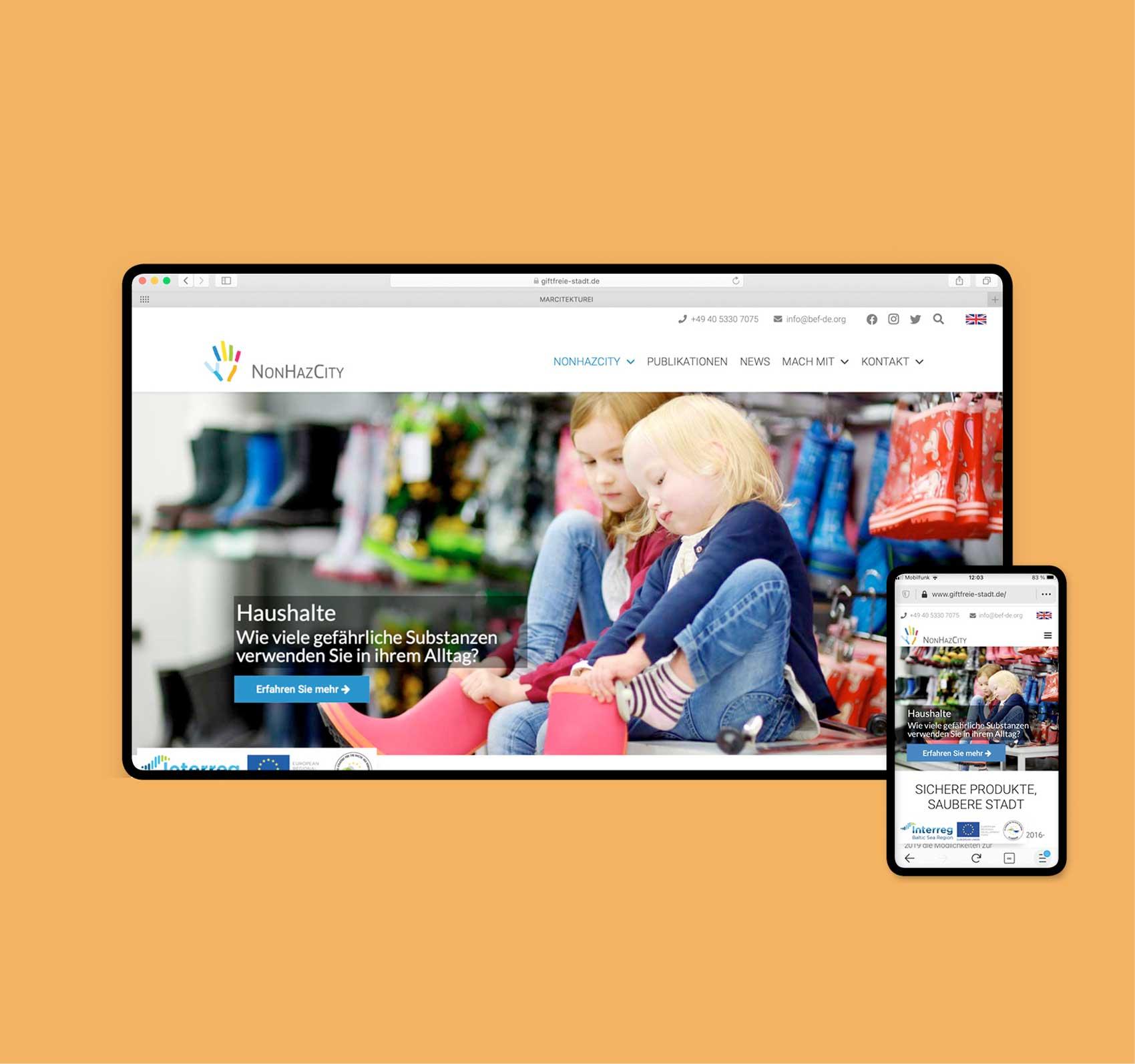 Referenz www.giftfreie-stadt.de | Webdesigner aus Hamburg