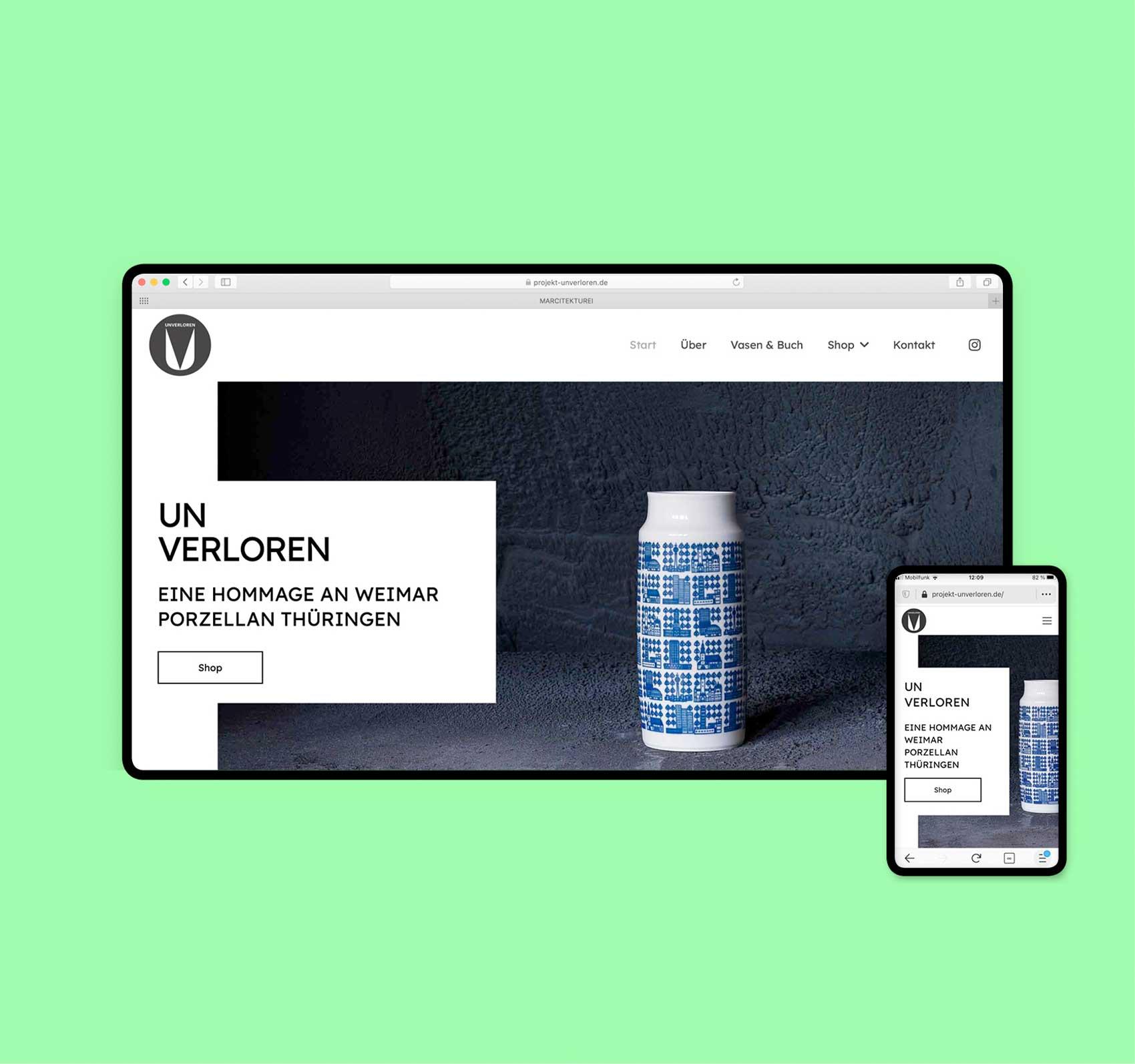 Webdesign Hamburg | Webseite /Onlineshop Referenz | www.projekt-unverloren.de
